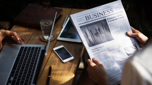 Photo of a business newspaper