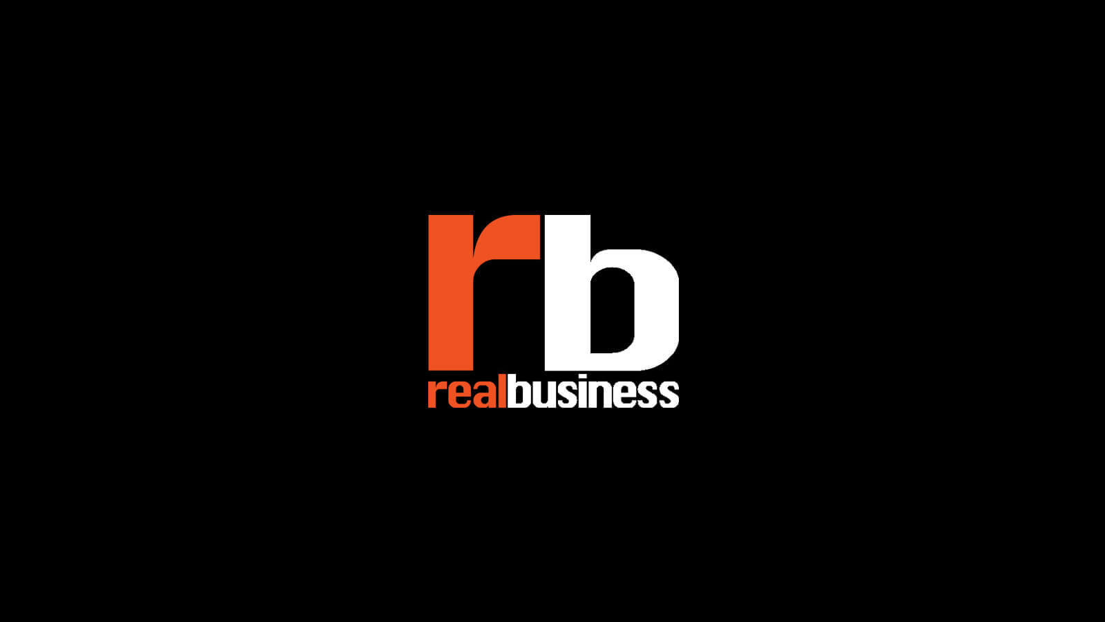 Real Business logo on a black background