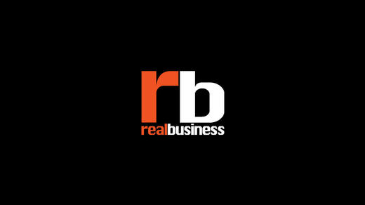 Thumb Real Business logo on a black background