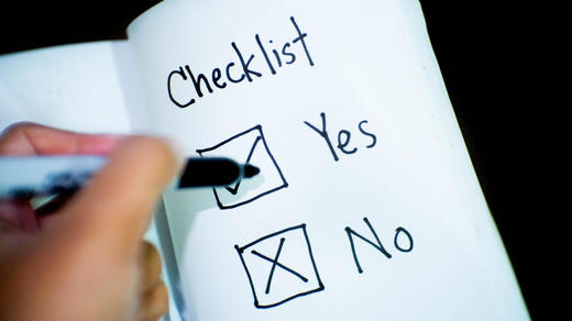 Thumb Photo of a checklist