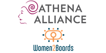 Athena alliance and women2boards logos