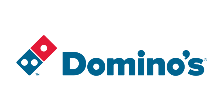 Dominos logo white