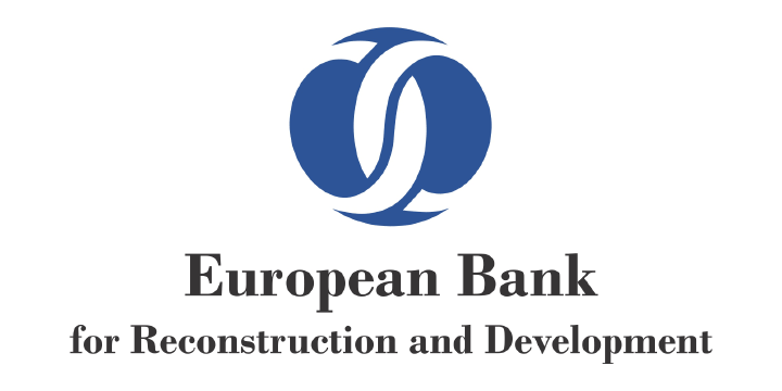European bank logo white