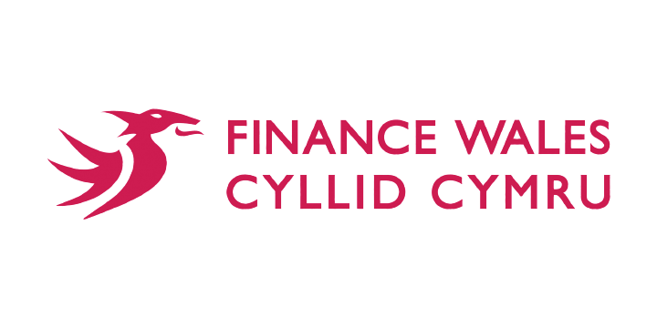 Finance wales logo white