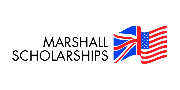 Marshall scholarships logo white