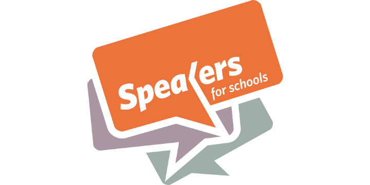 Speakers for schools logo 720x360