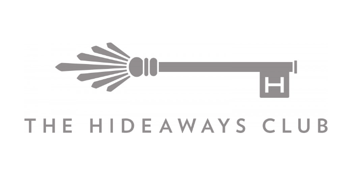The hideaways club logo white