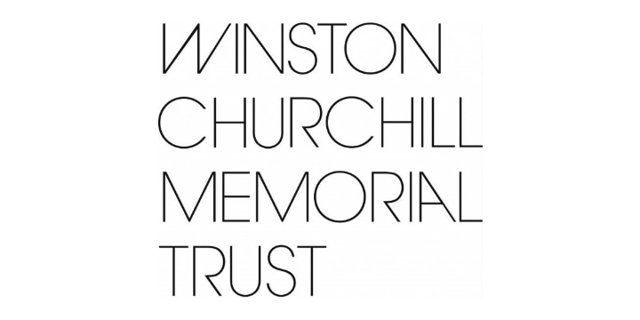 Winston churchill memorial trust logo white